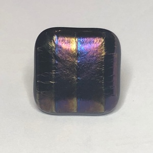 Bronzontos, Ékszer, Gyűrű, Üvegművészet, Négyzet formájú, többrétegű üveg összeolvasztásával készülő egyedi termék. Mérete~2,5x2,5 cm, állíth..., Meska