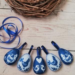 Textil tojások , Otthon & lakás, Dekoráció, Ünnepi dekoráció, Húsvéti díszek, Varrás, Kézzel varrt textil tojások. \nAz ár szettre értendő.\nMéret: 7 cm, Meska