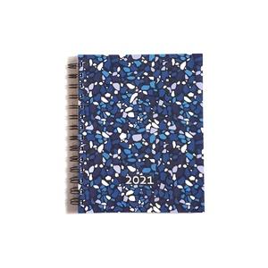 Tervezőnaptár 2021. Víz elem, Művészet, Grafika & Illusztráció, Könyvkötés, Borító: Keaykolour 100% recycled particle sunshine 300 g \nHátoldal: Stardream Opal 285 g \nBelívek: 1..., Meska