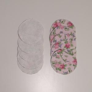 Rózsás mintájú nowaste arctisztító korongok - Meska.hu