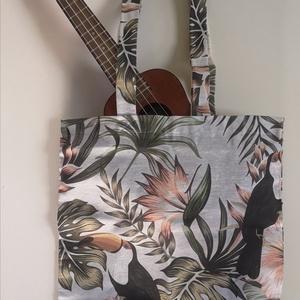 Trópusi vászon táska, Táska & Tok, Kézitáska & válltáska, Ha te sem szeretnéd tovább terhelni a környezeted eldobható nylon szatyrokkal de közben modern és di..., Meska