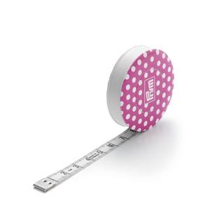 """Behúzható mérőszalag pöttyös, 150 cm-es, Szerszámok, eszközök, Kiegészítők, PRYM """"LOVE"""" behúzható mérőszalag. Rózsaszín - fehér pöttyös, 150 cm-es. Az ár 27% Áfát tartalmat. ..., Meska"""