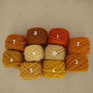 Magyar gyapjúfonal különféle színekben, Fonal, cérna, Gyapjúfonal, Mindenmás, Kötés, horgolás, Hímzés, 100 % gyapjú fonalak különböző színekben.\nTtex:~400  (Nm: ~2,5)\n\n3 ágú, jól használható a normál mér..., Meska