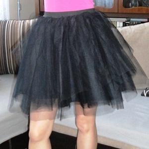 fekete tüll szoknya, Szoknya, Női ruha, Ruha & Divat, Varrás, Fekete tüllszoknya többféle méretben eladó, Meska