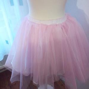 rózsaszín tüllszoknya, Ruha, divat, cipő, Női ruha, Szoknya, Varrás, Méretedre készítek tüllszoknyát különböző színben és fazonban., Meska