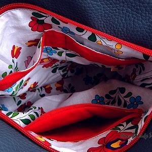 Szűrmintás, tulipános textilbőr oldaltáska, válltáska, tarisznya (annetextil) - Meska.hu
