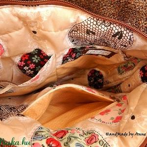 Valentin - madaras, szíves, mesevirágos cross bag, tarisznya (annetextil) - Meska.hu
