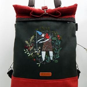Kirándulás a meseerdőben - Chameleon shopping backpack 4 1 - varázsló 521816bd77