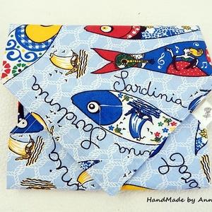 Sardinia - ÖKO táska, szalvéta, NoWaste csomagolás, NoWaste, Táska, Divat & Szépség, Táska, Textilek, Textil tároló, Varrás, NoWaste csomagolás - KÉSZLETEN!\n\nTöbbször felhasználható szalvétában viszem magammal a reggelimet ha..., Meska