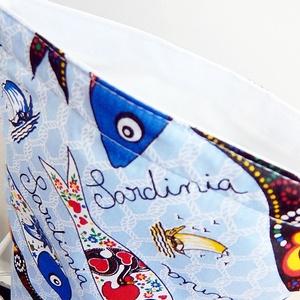Sardinia - Lunch bag -  vízhatlan uzsonnás  zsák  (annetextil) - Meska.hu