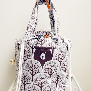Kids bag set - uzsonnás táska szett - erdőben kukucskáló állatok (annetextil) - Meska.hu