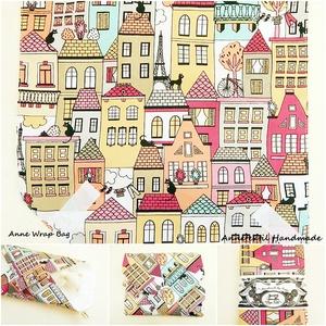 Vízhatlan textil szalvéta újraszalvéta Párizsi cicák pink, Táska & Tok, Uzsonna- & Ebéd tartó, Szendvics csomagoló, Varrás, Patchwork, foltvarrás, Vízhatlan újraszalvéta - KÉSZLETEN!\n\nVízhatlan szalvéta az egyszerű, gyors és ízléses nowaste csomag..., Meska