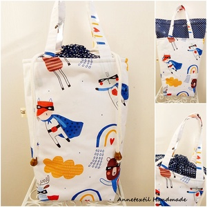 ÖKO Kids bag - uzsonnás táska szuperhősök, Táska & Tok, Uzsonna- & Ebéd tartó, Piknik kosár & táska, Varrás, Patchwork, foltvarrás, Anne kids bag - KÉSZLETEN! most magasabb változatban!\n\nElsősorban gyerekeknek terveztem ezt az uzson..., Meska