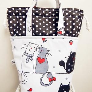 ÖKO Kids bag - cicás uzsonnás táska, Táska & Tok, Uzsonna- & Ebéd tartó, Piknik kosár & táska, Varrás, Patchwork, foltvarrás, Anne kids bag - KÉSZLETEN!\n\nElsősorban gyerekeknek terveztem ezt az uzsonnás táskát, mely a felnőtte..., Meska