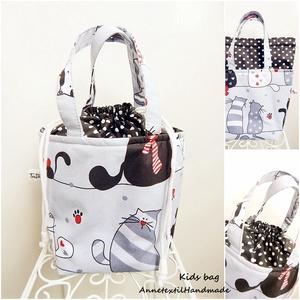 ÖKO Kids bag - cicás uzsonnás táska