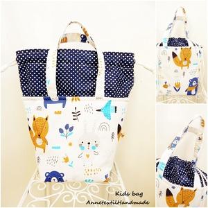 Kids bag - erdei macis uzsonnás táska, Táska & Tok, Uzsonna- & Ebéd tartó, Piknik kosár & táska, Varrás, Anne kids bag - KÉSZLETEN!\n\nElsősorban gyerekeknek terveztem ezt az uzsonnás táskát, mely a felnőtte..., Meska
