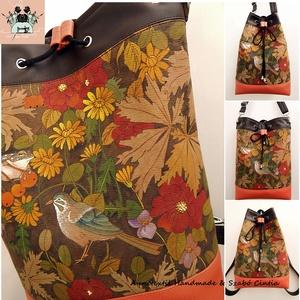 Vízparti madárcsicsergés - Kolibri No2. többfunkciós hátizsák, táska, Táska & Tok, Variálható táska, Varrás, Festészet, Kolibri No2. Kézzel festett hátizsákok 2021/Tavasz - KÉSZLETEN!\n\nA Tisza-tó szigetein sétálva elvará..., Meska