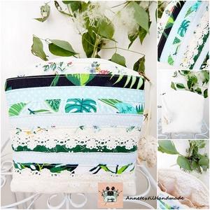Trópusi nyár - patchwork neszesszer, kozmetikai táska csipkével - táska & tok - neszesszer - Meska.hu