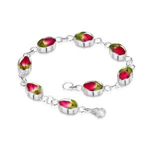 Ezüst karkötő valódi virágokkal,  rózsa bimbó a természet szerelmeseinek, sziv, tokeletes ajandek, Ékszer, Karkötő, Láncos karkötő, Ékszerkészítés, Kézzel készített 925 ezüst karkötő valódi virágokkal -  rózsa bimbó.\nMérete (kb.) 180 mm\nÉppúgy hord..., Meska