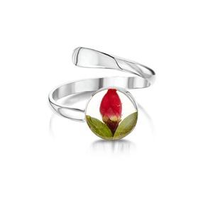 Ezüst gyűrű valódi virágokkal, rozsa a természet szerelmeseinek, kor, állítható méret , Ékszer, Gyűrű, Fonódó gyűrű, Ékszerkészítés, Kézzel készített 925 ezüst gyűrű valódi virágokkal -  rozsa.\nÁllítható méret \nÉppúgy hordható hétköz..., Meska