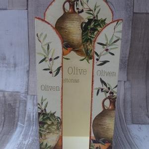 Papírzsebkendőtartó oliva mintás 100 darabos papírzsebkendőhöz, Lakberendezés, Otthon & lakás, Tárolóeszköz, Asztaldísz, Decoupage, transzfer és szalvétatechnika, Oliva mintás papírzsebkendőtartó 100 darabos papírzsebkendőhöz.Falra is akasztható vagy asztalra,pul..., Meska