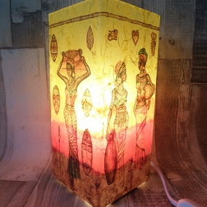 Asztali lámpa,éjjeli lámpa,hangulatlámpa afrikai mintával (Annikreativ) - Meska.hu