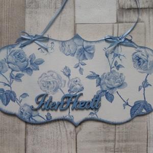 Színes virágos lepkés,tavaszi virágos,madaras vagy kék rózsás ajtódísz,üdvözlőtábla,függődísz, Dekoráció, Otthon & lakás, Lakberendezés, Ajtódísz, kopogtató, Decoupage, transzfer és szalvétatechnika, Színes virág\nés   lepke,tavaszi virágos madár vagy kék rózsa mintás ajtódísz,üdvözlőtábla,függődísz ..., Meska