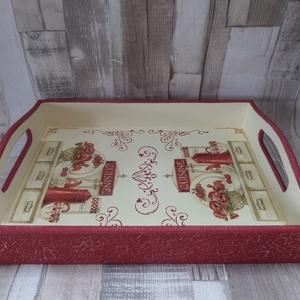 Tálca pipacsos,vintage konyhai mintával  (Annikreativ) - Meska.hu
