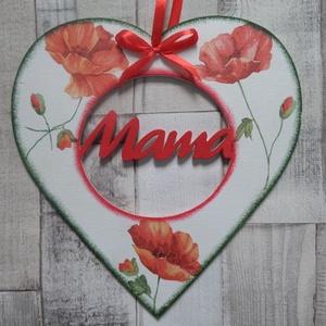 Nagy szív alakú dísz Szeretlek,Anya,Mama vagy Dédi felirattal - Meska.hu