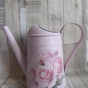 Vintage rózsa mintás rózsaszín locsolókanna, Otthon & Lakás, Dísztárgy, Dekoráció, Vintage  rózsa  mintás rózsaszín locsolókanna. Szép  dekoráció lehet kertbe,teraszra,lakásba,mely er..., Meska