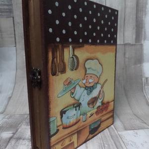 Könyv alakú receptes doboz,receptgyűjtő doboz (Annikreativ) - Meska.hu