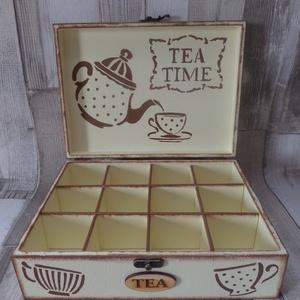 Teafiltertartó,teásdoboz 12 rekeszes teás mintával (Annikreativ) - Meska.hu