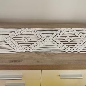 Makramé asztali dekor futó 25x 204 cm (AnniMakrame) - Meska.hu