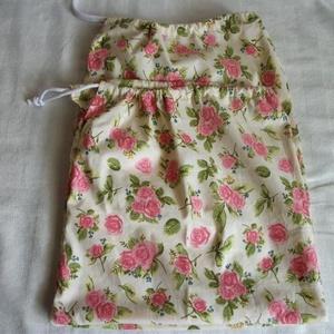 Vászon zacskó, torna zsák 2 db, Táska & Tok, Kenyeres zsák, Bevásárlás & Shopper táska, Kellemes tapintású, erős tiszta pamut vászonból varrt zsákocskák, nőknek, virág mintával.  Francia v..., Meska