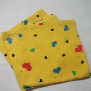 Textil zsebkendő, szalvéta, ajándék csomagoló kendő  37 x 37 cm  (AnniMari) - Meska.hu