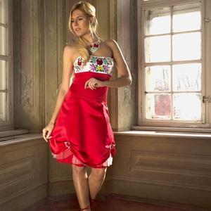 Kalocsai menyecske ruha, Ruha & Divat, Ruha, Női ruha, Hímzett kalocsai ruha .Hátul fűzős ,Mérete. 38-42.  De méretre készítünk is!Anyaga düsez.Elkészítési..., Meska