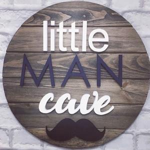 Egyedi Kézzel Készített 3D fa gyerekszoba dekoráció/Little Man Cave, Otthon & Lakás, Kép & Falikép, Dekoráció, Famegmunkálás, Festett tárgyak, Meska