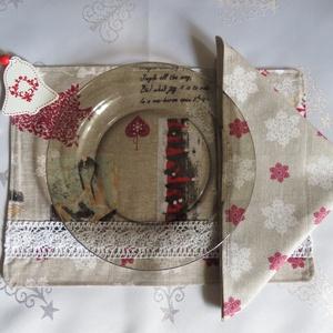 Textil szalvéta  - Karácsonyi hópelyhek (antalnemarta) - Meska.hu