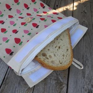 Frissen tartó kenyérzsák - Szamócás - Nagy méret (antalnemarta) - Meska.hu
