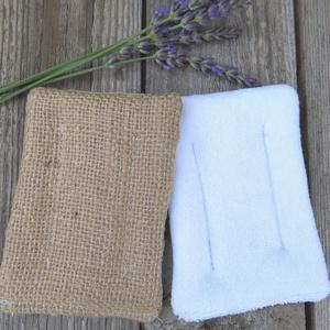 Próbacsomag juta, frottír - mosható és újrafelhasználható len-vászon mosogatószivacsok , NoWaste, Textilek, Otthon & lakás, Konyhafelszerelés, Varrás, A len-vászon mosogatószivacsok ideálisak a napi mosogatáshoz, takarításhoz a konyhában vagy a fürdős..., Meska