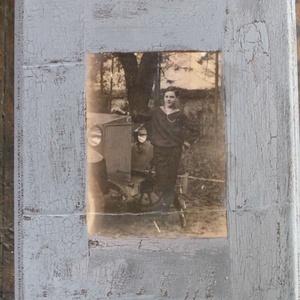 Nosztalgia falikép, Otthon & Lakás, Dekoráció, Kép & Falikép, Decoupage, transzfer és szalvétatechnika, Régi idők emlékeit idéző, nosztalgikus hangulatú - egyedi - falikép. Fa alapon (25x20x1,5 cm) decoup..., Meska