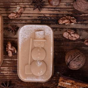 Hóember mintázatú kecsketejes natúrszappan, Szépségápolás, Szappan & Fürdés, Szappan, Szappankészítés, Kozmetikum készítés, Kiváló minőségü saját  recept alapján készült kecsketejes szappan karácsonyi illattal\nAz ünnep közel..., Meska