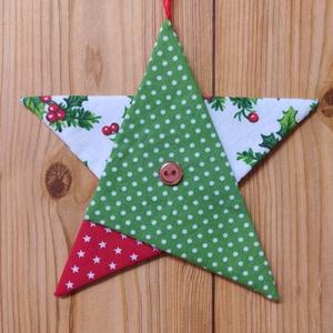 Karácsonyi csillag, Karácsony & Mikulás, Karácsonyi dekoráció, Patchwork, foltvarrás, Varrás, Csillag, mint motívum, és jelkép mindenhol ott van velünk. Különböző kultúrákban, más, és más jelent..., Meska