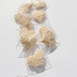 Pasztell rózsaszín,pasztell kék mézeskalácsszív  csomag,esküvőre,szóróajándékként,ültetőnek stb. (anyecska) - Meska.hu