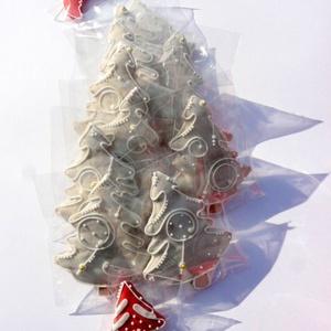 Fehér karácsony karácsonyfa - művészet - Meska.hu