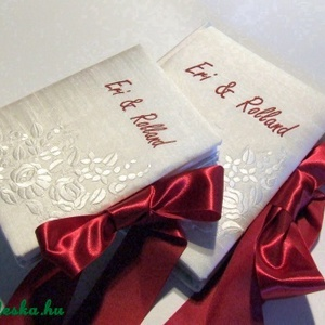 Esküvői szett XV., Vendégkönyv, Emlék & Ajándék, Esküvő, Könyvkötés, Hímzés, Megrendelésre!\nA képen látható darab már elkelt, de ha Te is szeretnél ilyet, akkor nyugodtan tedd k..., Meska