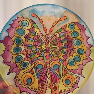 Selyem mandala Pillangó 25 cm (Anyuca) - Meska.hu