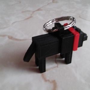 Fekete kutya kulcstartó (Apollo78) - Meska.hu