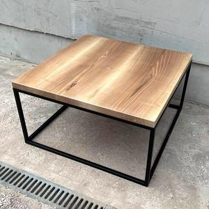 Tömény diófa design asztal , Otthon & Lakás, Bútor, Asztal, Fémmegmunkálás, Egyedi tömény diófa asztal, zártszelvényből készült négyszögletes vázon. \n\nasztallap vastagsága: 50m..., Meska