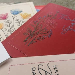 Üdvözlőkártya - Karton papírra hímezve (AproAniko) - Meska.hu